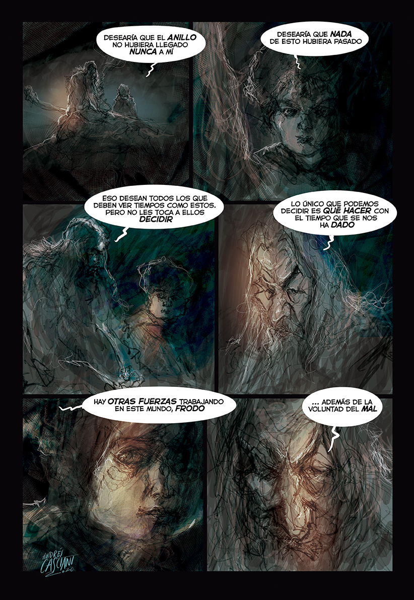 """Fragmentaria"" illustrated quotes by Andrés Casciani: ""Gandalf"""
