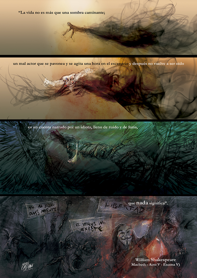 """Fragmentaria"" illustrated quotes by Andrés Casciani: ""Shakespeare"""